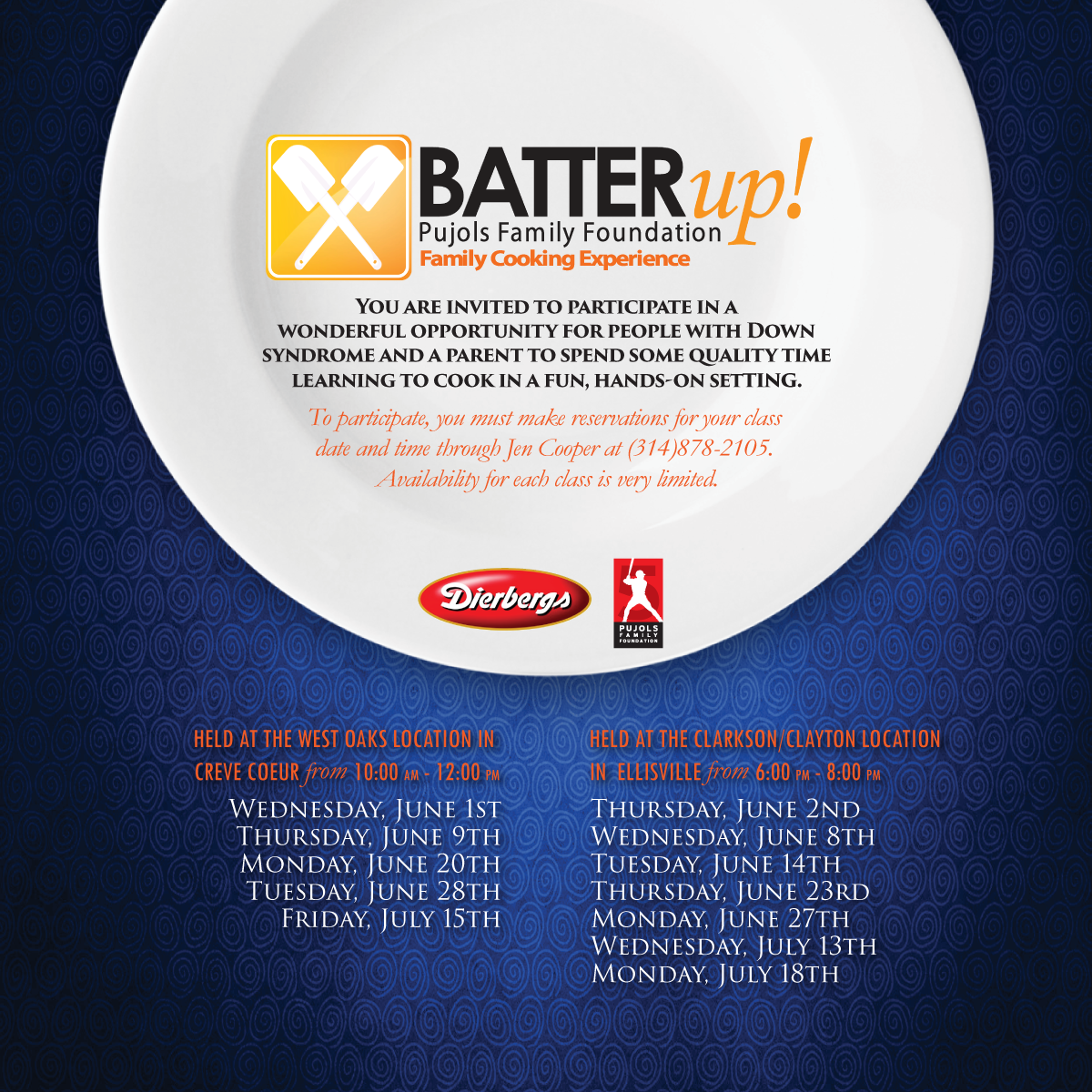 2016 Batter Up Cooking Class Invitation