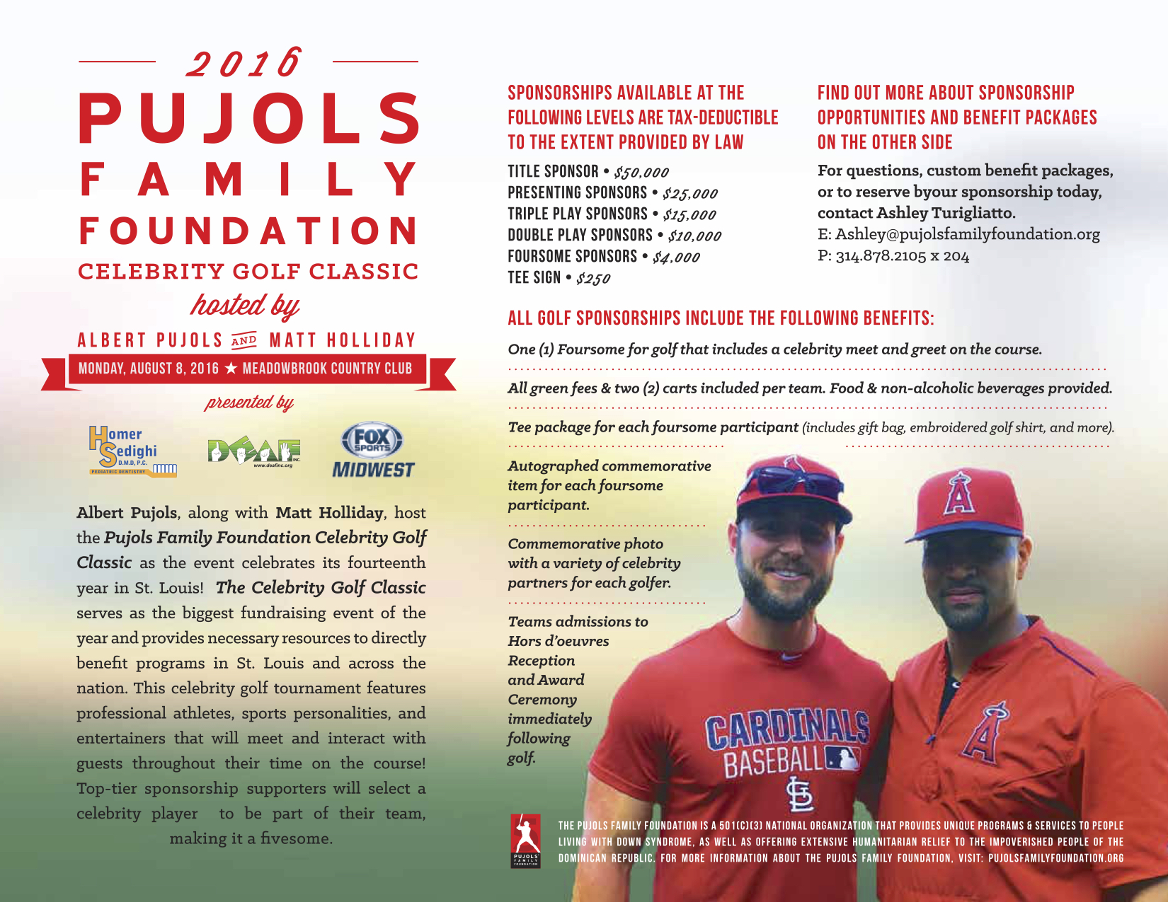 2016 Pujols Family Foundation Golf Sponsorship