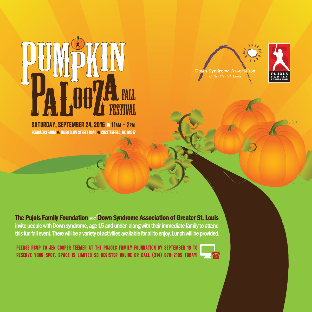 2016 Pumpkin Palooza Invitation