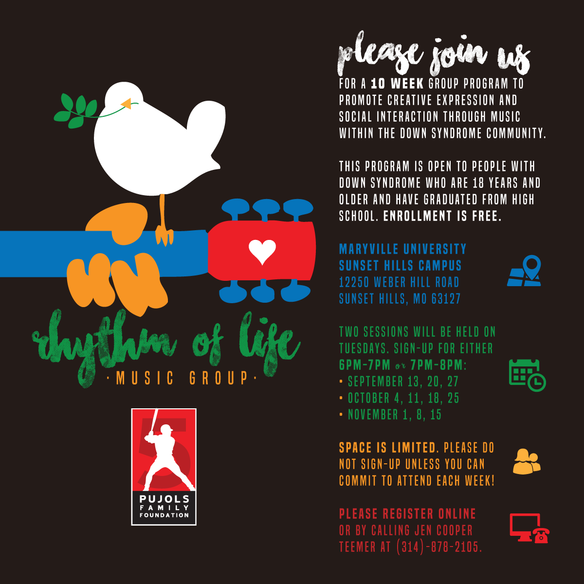 2016 Rhythm of Life Music Therapy Fall Session Invite
