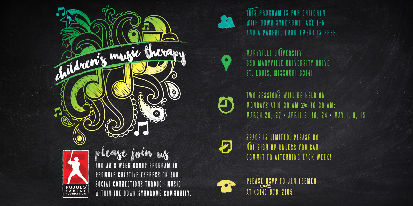 2017 Children's Music Therapy Invitation