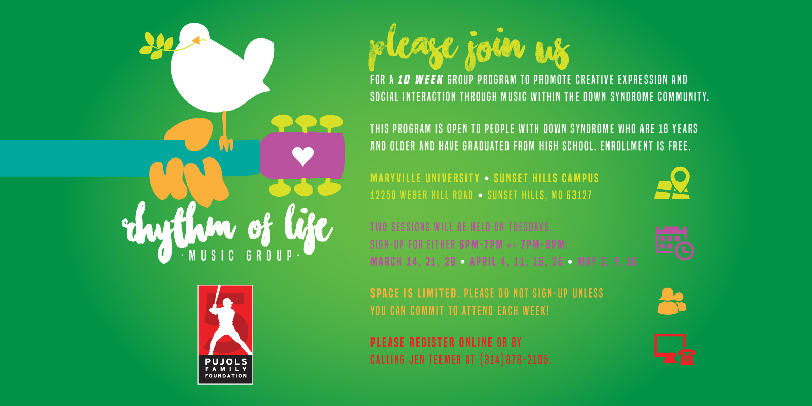 2017 Music Therapy Invitation - Spring Session